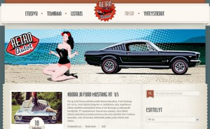Retroautot-Pinup-Ford-Mustang